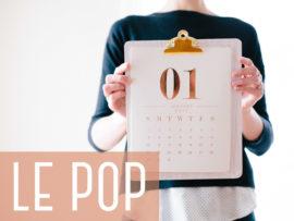 Janvier… il est temps de retrouver le POP !