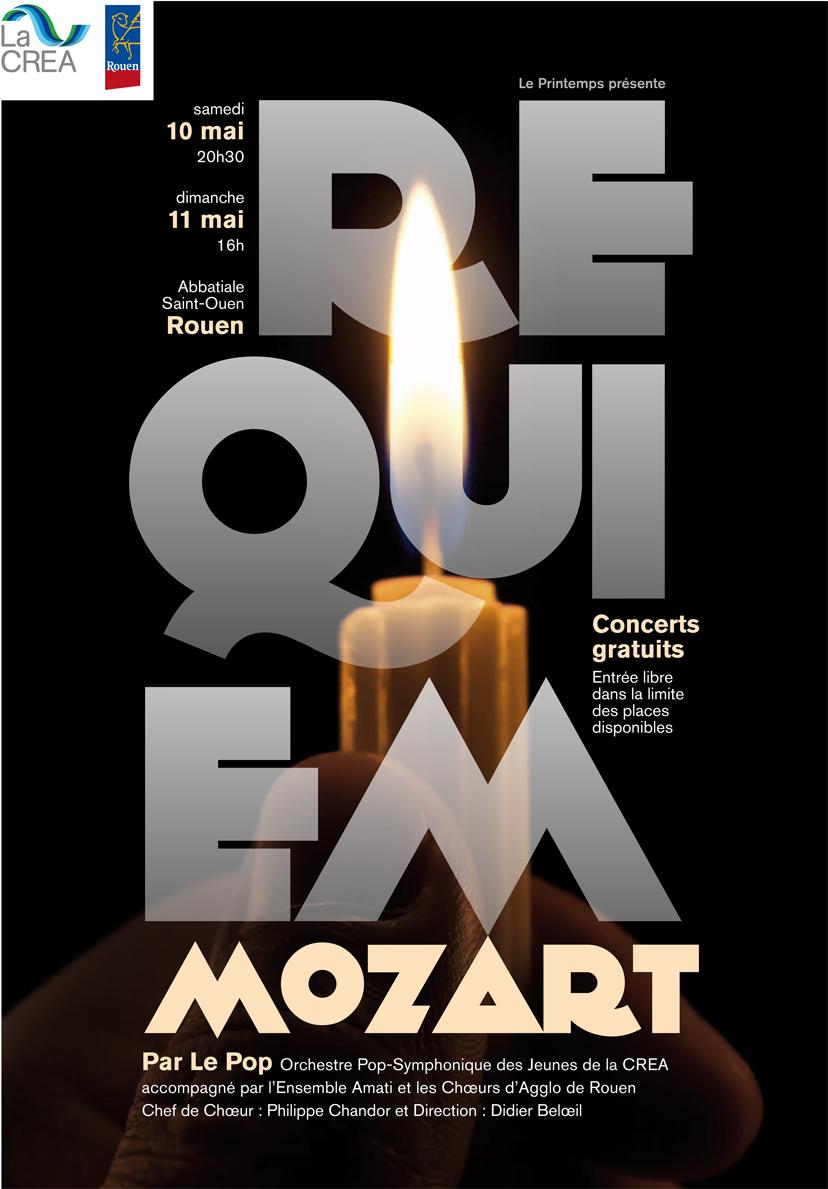 Affiche Requiem de MOZART à Rouen